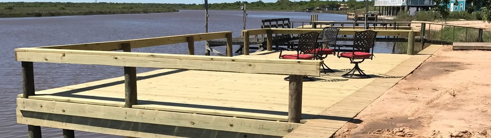 Custom Built Piers, decks and patio company in Victoria Texas